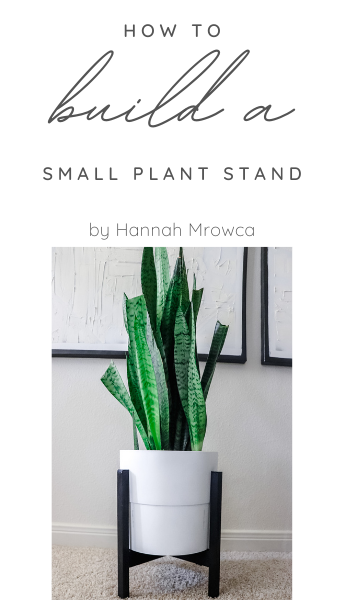 DIY Small Plant Stand